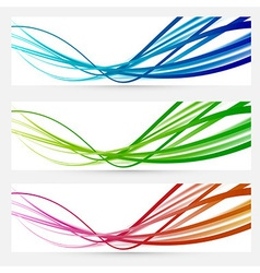 Abstract modern bright colorful banners vector image vector image