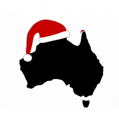 Australia and santa claus vector