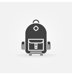 Backpack icon or logo vector image