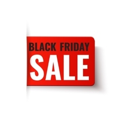 Black friday sale - red tag vector