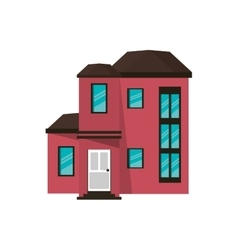 cartoon house urban expensive vector image
