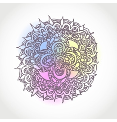 Decorative Hand Drawn Circle Shape Design Abstract vector image vector image