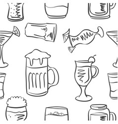Doodle of drink various hand draw vector