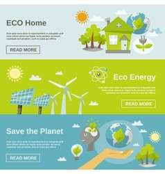 Eco energy banner vector