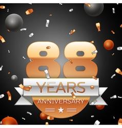 Eighty eight years anniversary celebration vector