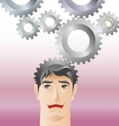 gear head vector image vector image