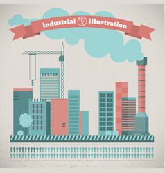 industrial urban landscape vector image vector image