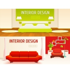 Interior design banners set vector