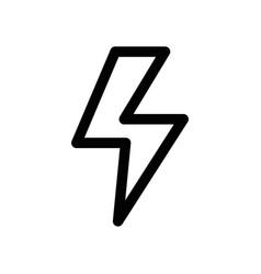 Line dangerous energy hazard symbol to security vector