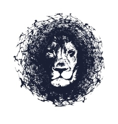 Lion in grunge style vector image vector image