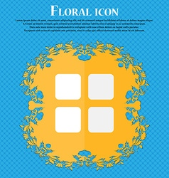List menu content view options floral flat design vector