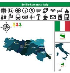 Map of emilia romagna vector