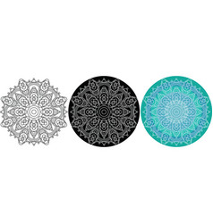 natural mandala of circles for coloring book vector image vector image