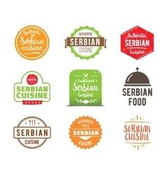 Serbian cuisine label vector
