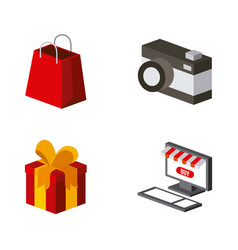 Shopping isometric design vector