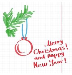 Sketchy Christmas tree vector image