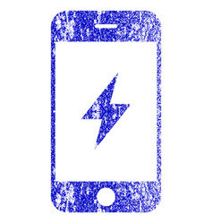Smartphone electricity textured icon vector