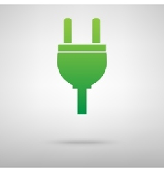 Socket icon with shadow vector image