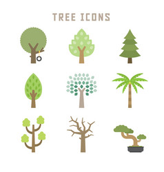tree icons vector image