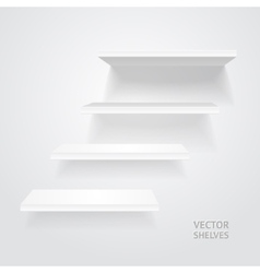 White shelves vector image vector image