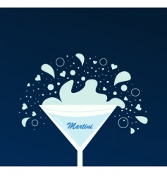 Martini drink vector