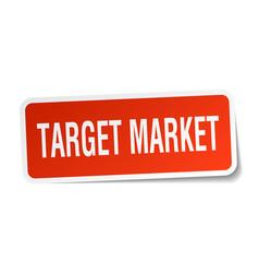 Target market square sticker on white vector