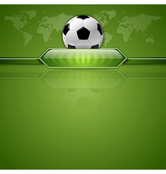 Football score green world vector
