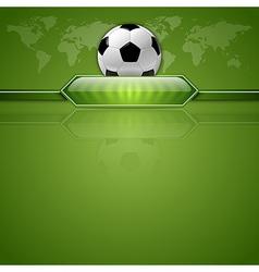 football score green world vector image
