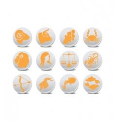 zodiac buttons vector image