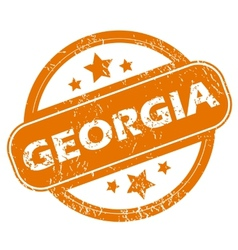 Georgia grunge icon vector