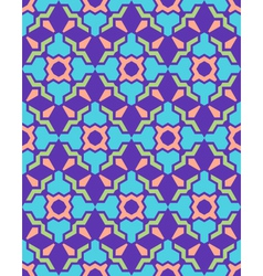 Abstract geometric blue violet green pink seamless vector
