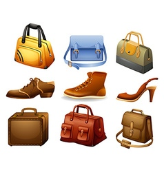 Shoes and bags vector