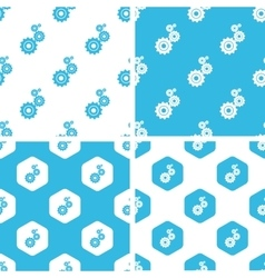 Gears patterns set vector