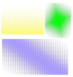Halftone patterns set of halftones vector