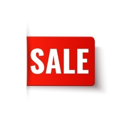 Sale - red tag in paper style vector image