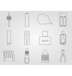 Vaping icons set vector