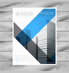Abstract business brochure flyer with buildings vector