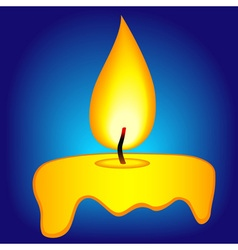 Abstract candle icon vector