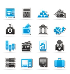 Bank and Finance Icons vector image vector image