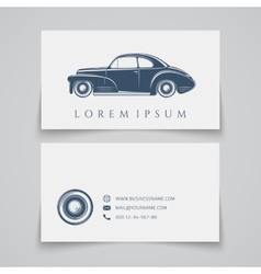 Business card template Classic car logo vector image