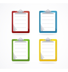 clipboard icon set Flat Design vector image vector image