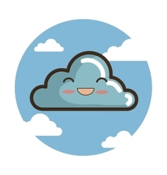 cloud character funny icon vector image