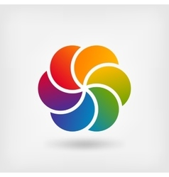 Colored abstract circle symbol vector image vector image