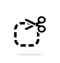 Cut icon on white background vector image vector image
