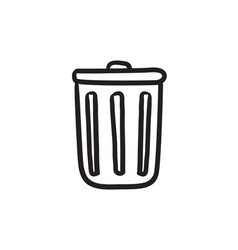 Delete button sketch icon vector
