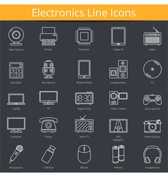 Electronics Icons vector image vector image