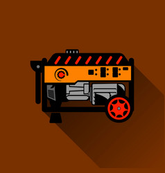Gasoline generator flat vector