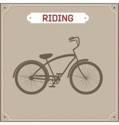 Hipster bike retro vector