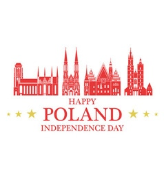 Independence Day Poland vector image vector image