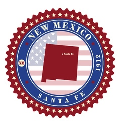 Label sticker cards of state new mexico usa vector